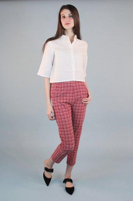 Rachel Comey Flat Westside Pant - Crimson