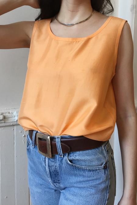 VINTAGE YSL SILK TANK - Orange