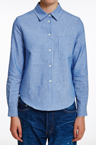 You Must Create Linen Striped Shirt