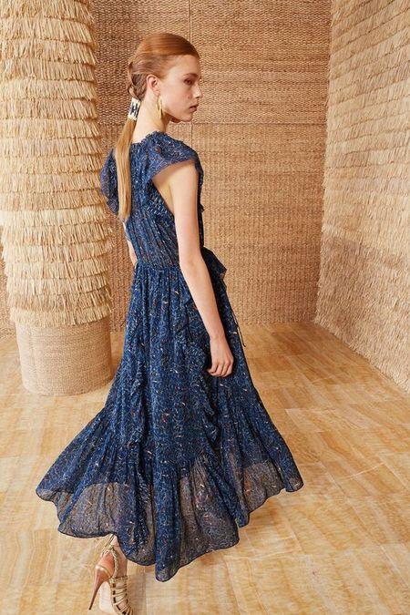 Ulla Johnson silk nadya dress - navy