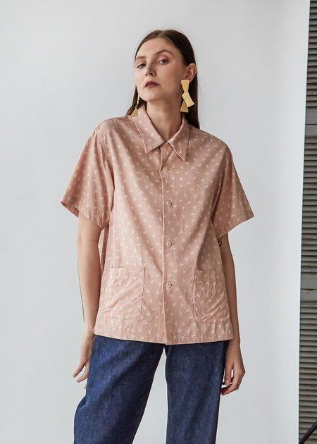 Chimala Aloha Shirt - Pink Tornado Print