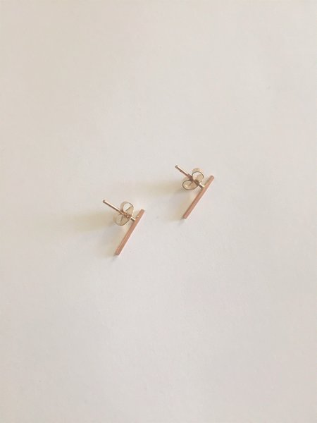 Rachel Gunnard Lines Earrings - Rose gold