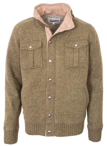 Men's Schott Military Sweater Jacket