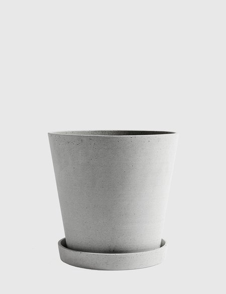Hay XX-Large Flower Pot with Saucer - Grey