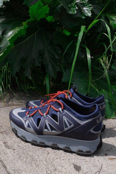 Lanvin Open Neoprene & Calf Leather Runner
