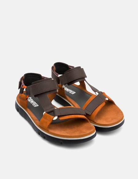 Camper Oruga Trekker Sandal - Brown Leather
