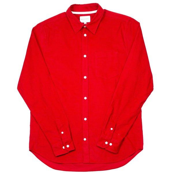 Norse Projects Osvald Corduroy Shirt - Askja Red