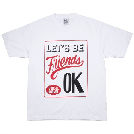Virgil Normal Let's Be Friends T-shirt - White