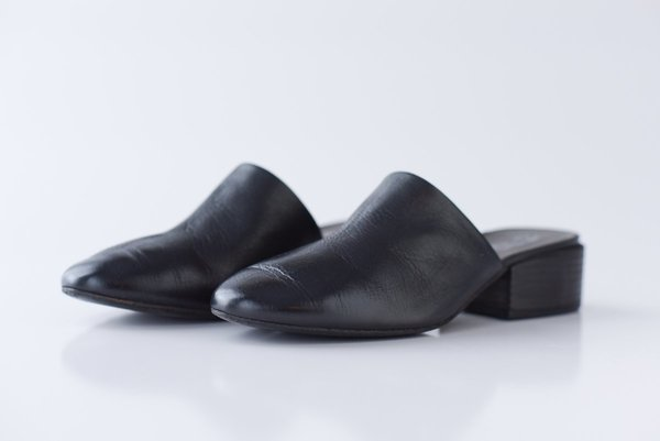 Marsèll Leather Mules - Black