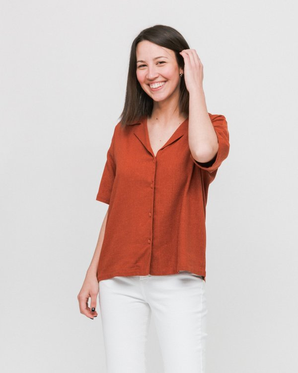 Rita Row Bang Shirt - Camel