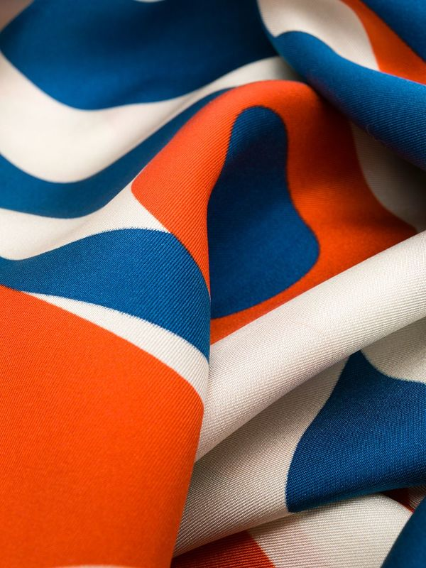 Henrik Vibskov Silk Breath Scarf - Blue Face