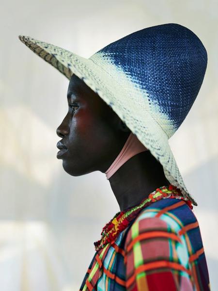 Henrik Vibskov Farmer Hat - Blue Panama