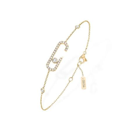 Messika Gigi Hadid Collection Addiction Pavé Bracelet with Diamonds - 18k Yellow Gold