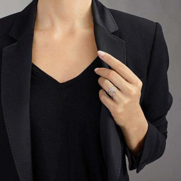 Messika Glam'Azone 2 Rows Diamond Pave Ring - 18k White Gold