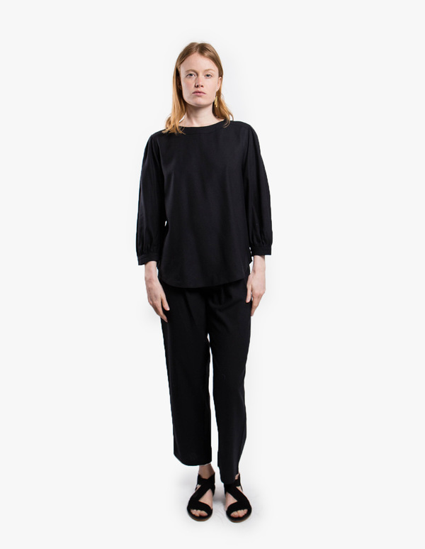 Rodebjer Astrud Raw Silk Pants - black