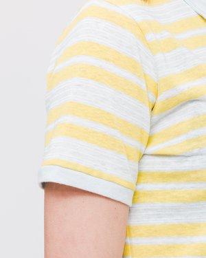 Thinking MU Hemp Stripe Irina Polo - Multicolor