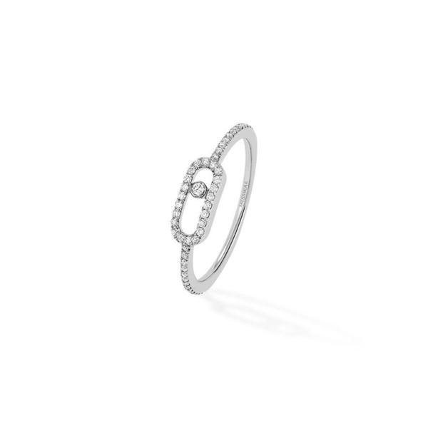 Messika Move Uno Pavé Diamond Ring - 18k White Gold
