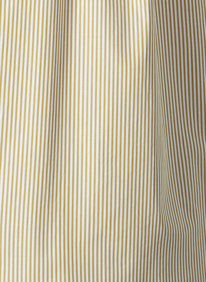 GREI S/S SACK POCKET SHIRT - AMBER/WHITE STRIPE