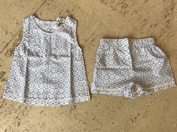 KIDS Mia & Finn girls pjs - blockprint