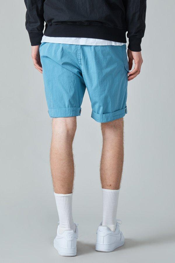 Presidents Poplin Cotton Nylon Wurkje Bermuda Shorts - Sky