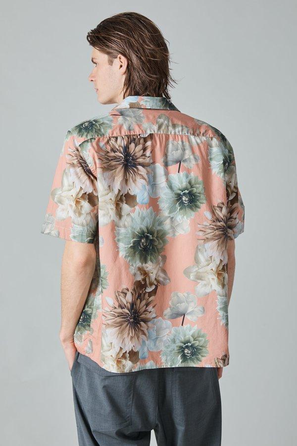 Presidents Poplin Rangi Shirt - Rose/Flower Print