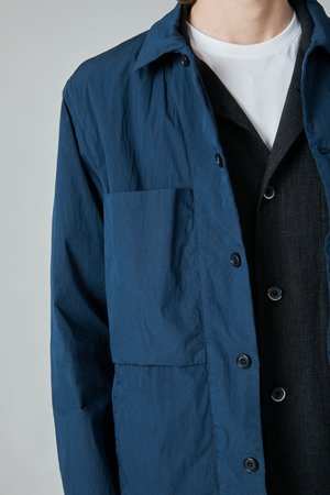 Presidents Poplin Nylon Cruiser Overshirt - Navy