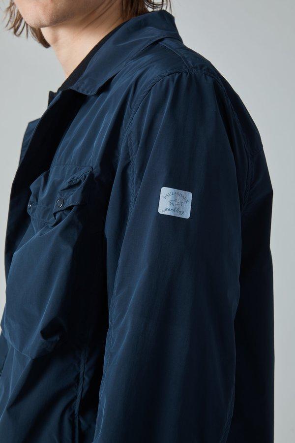 Paul & Shark Tech Nylon Taffeta Overshirt - Navy