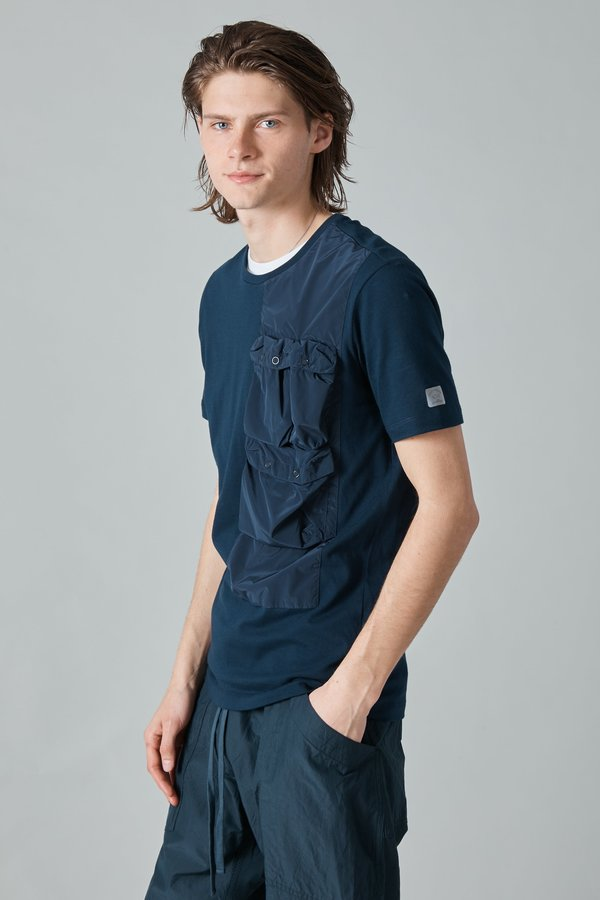 Paul & Shark Tech Nylon Taffeta T-Shirt - Navy