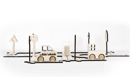 Kids Stories In Structures Wooden Traffic Set
