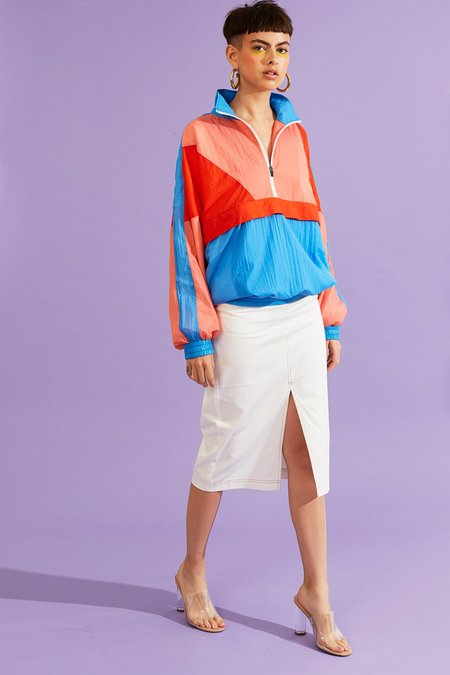 Kurt Lyle DALILA SKIRT - White/Red Stitching