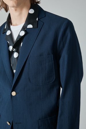 Presidents Linen Wool Liam Blazer - Navy