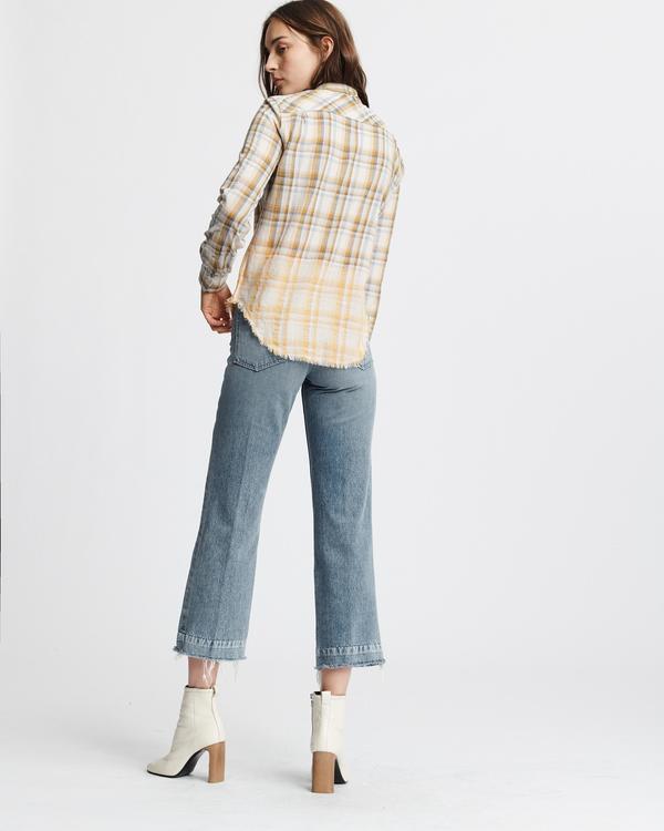 Rag & Bone Nola Shirt - Ivory/Plaid