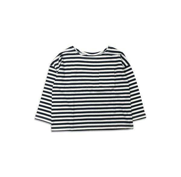 kids unisex Arch & Line School Border T-Shirt - Black/White Stripe