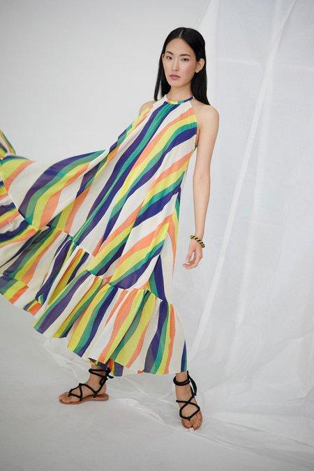 WHiT Orly Dress - Wavy Stripes