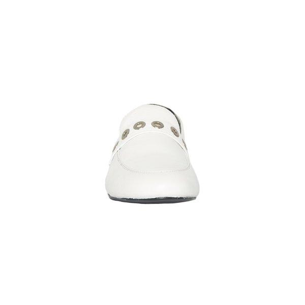CARTEL Ximena Loafer - white/grommets