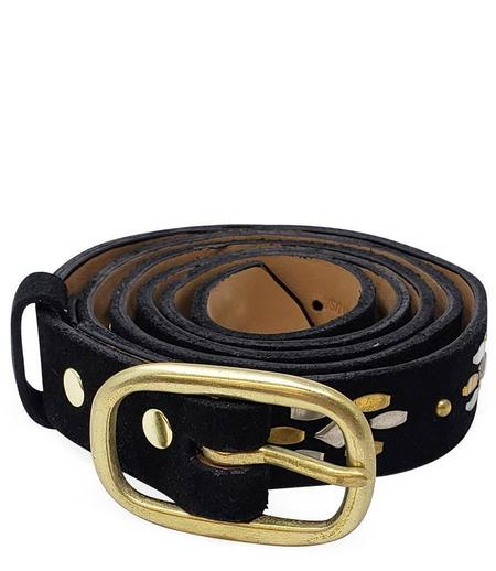 "Calleen Cordero Leather Candela .75"" Belt - Black"