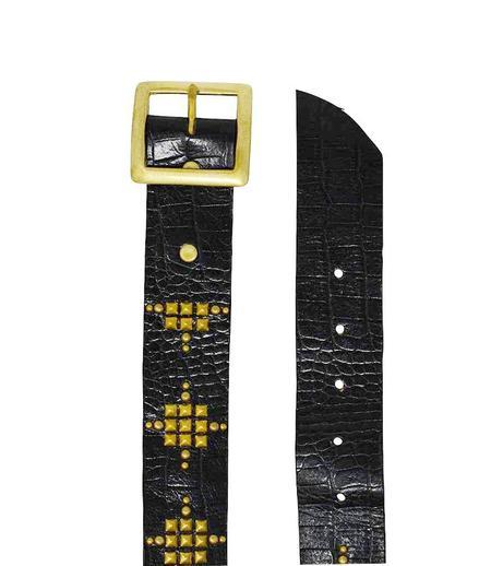 "Calleen Cordero Leather Starla 1.5"" Belt - Black"