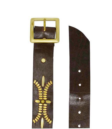 "Calleen Cordero Leather Dominic 1.5"" Belt - Chocolate"