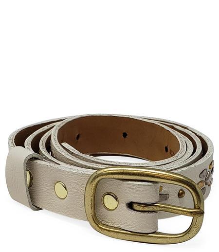 "Calleen Cordero Leather Candela .75"" Belt - White"