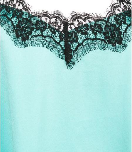 Icons Lace Short Top - Turquoise