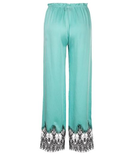 Icons Silk Trousers - Turquoise