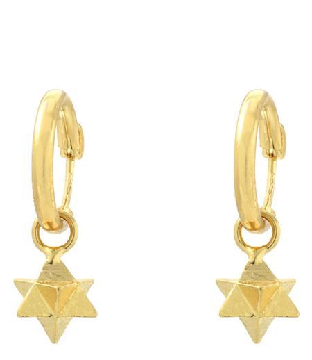 Indigo Unveiled 14k Merkaba Star Earrings - Gold