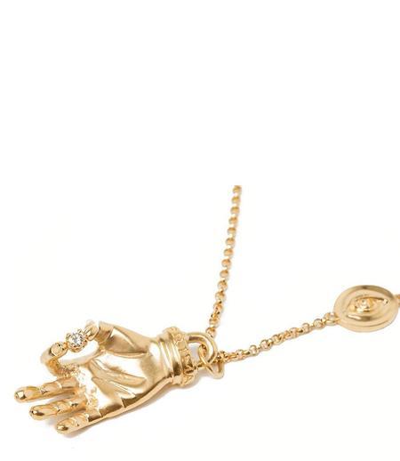 Indigo Unveiled Diamond Hand Necklace - 14k Gold