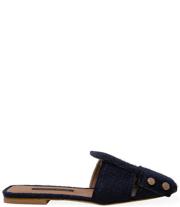 Lorena Paggi Flat Slip On Sandal - Blue