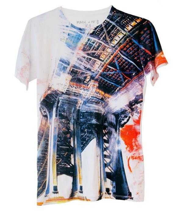 unisex Made in Me 8 Bridge T-shirt - Black/Multi