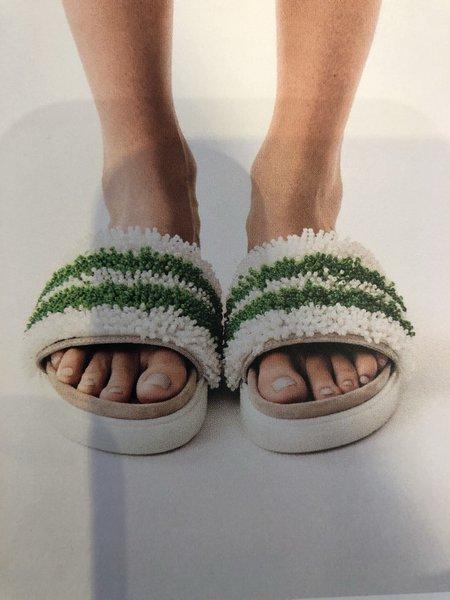 Inuikii Pearl Band Slipper - Green/White