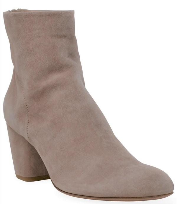 Officine Creative Suede Julie/001 Ankle Boot - Rose