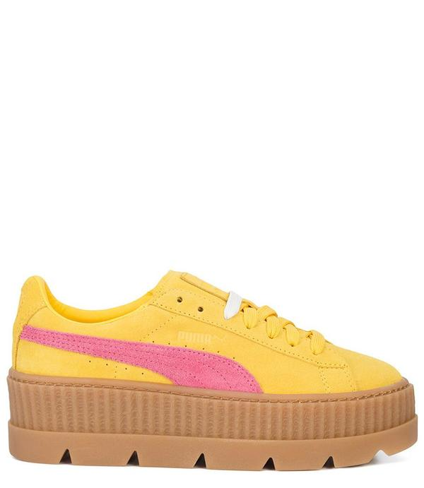 designer fashion bf2fe 64081 Puma x Rihanna Fenty Suede Cleated Creeper - Lemon on Garmentory