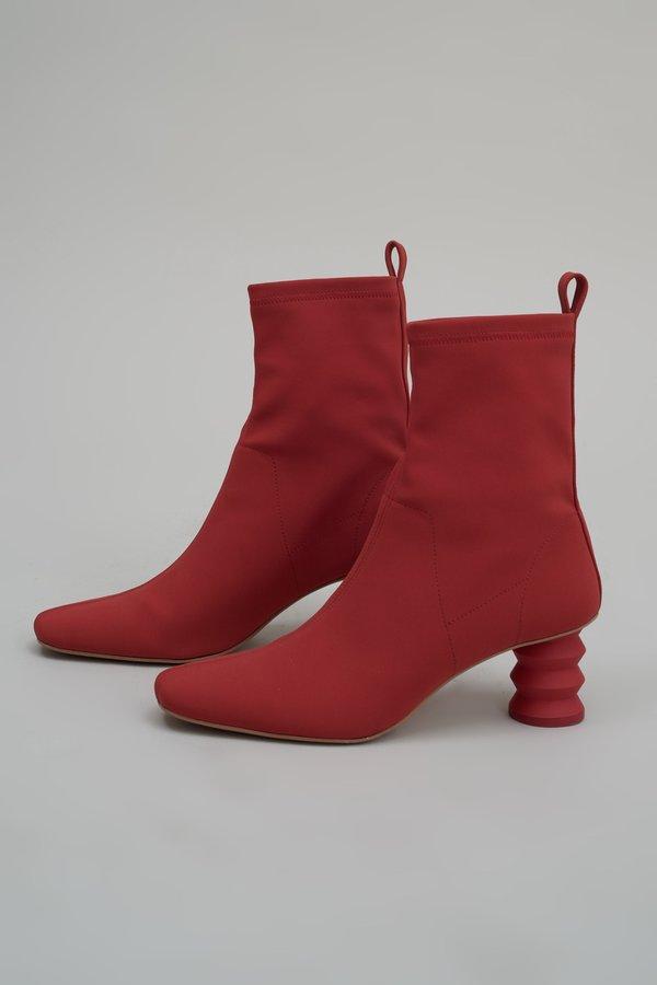 Nomia Matte Lycra Binx Boot - Chili