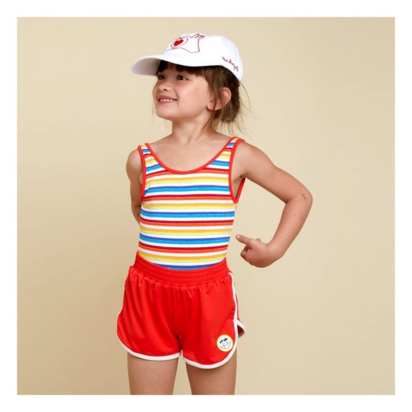 Kids Hundred Pieces Swimsuit - Multicolored Stripe
